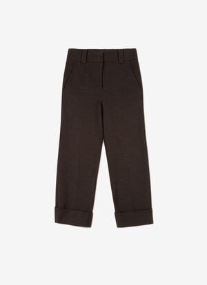 BLACK COTTON Pants - Bally