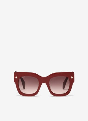RED PLASTIC Sunglasses - Bally