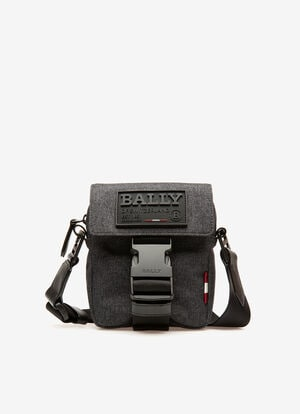 GREY FABRIC Messenger Bags - Bally