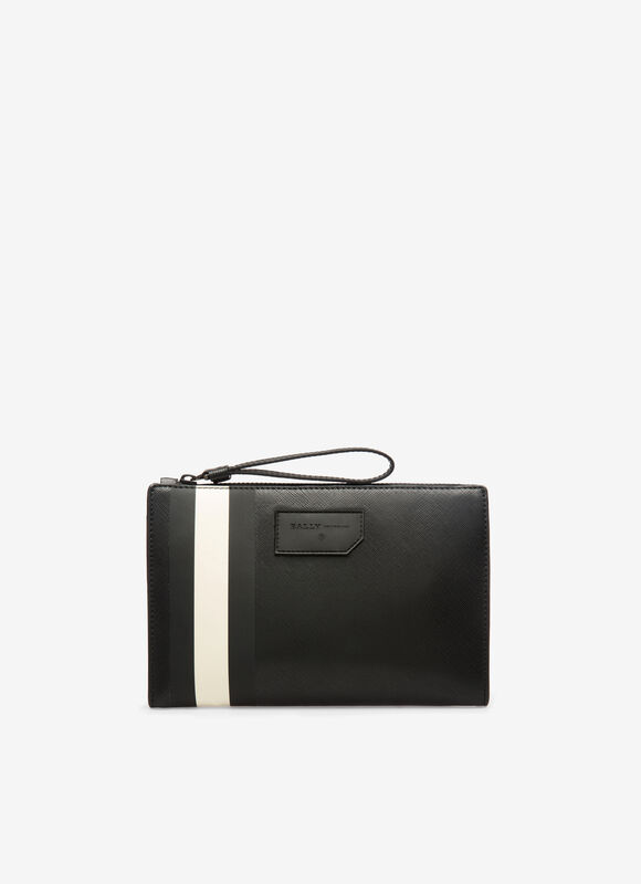 BLACK SYNTHETIC Clutches and Portfolios - Bally