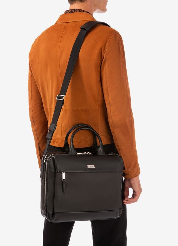 BLACK MIX COTTON/SYNT Business Bags - Bally