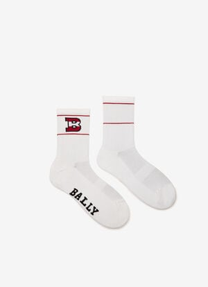 WHITE MIX COTTON Socks - Bally
