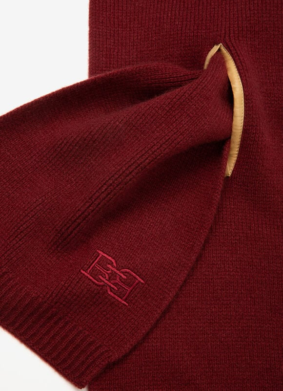 BURGUNDY MIX WOOL Scarves - Bally