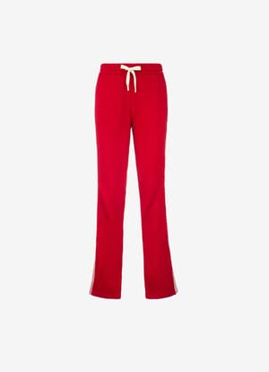 RED MIX VISCOSE Pants - Bally