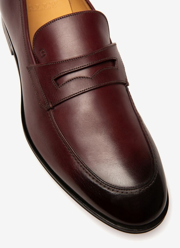 BURGUNDY CALF Loafers and Moccasins - Bally