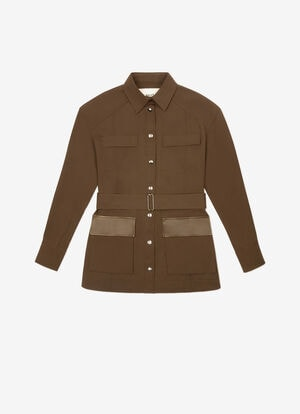 GREEN MIX POLY./COTTON Outerwear - Bally