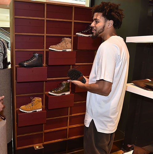 J. Cole visits Bally Phipps Plaza store