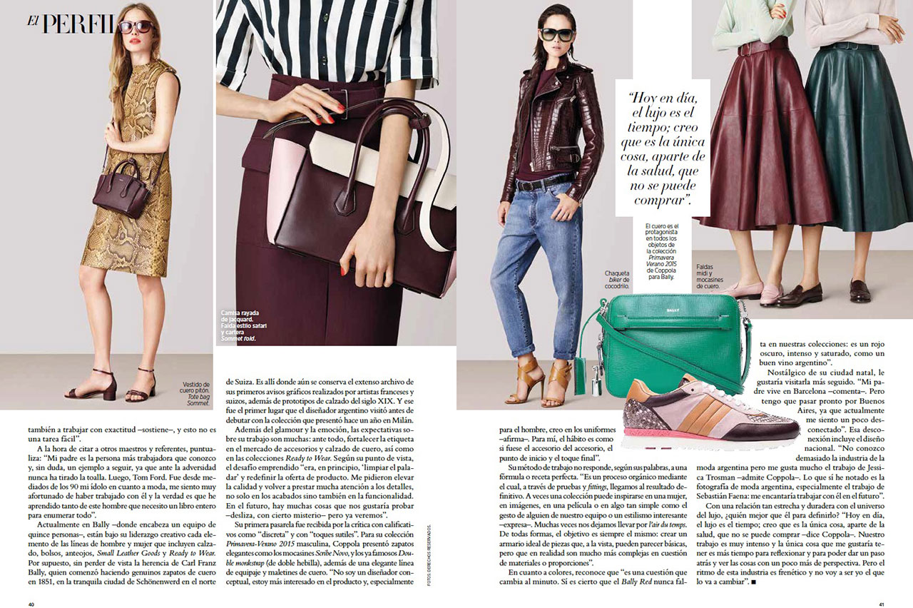Harper 39 s bazaar january 2014 argentina bally for Bazaar argentina