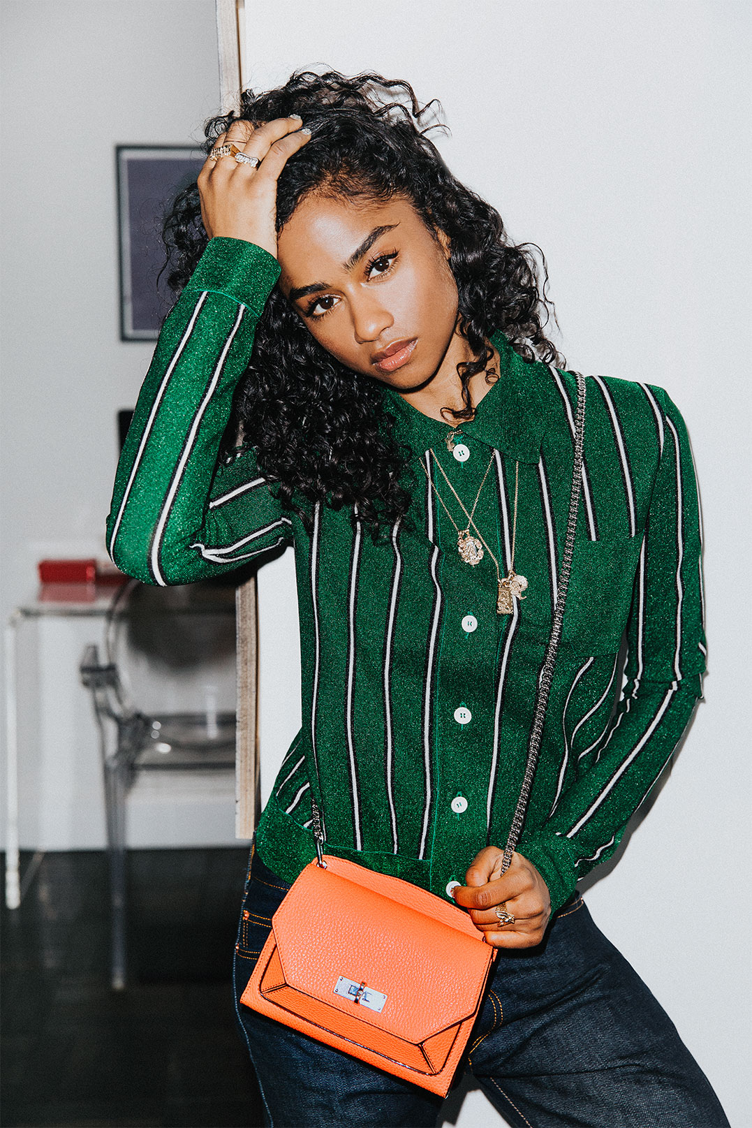 Vashtie and her Suzy shoulder bag